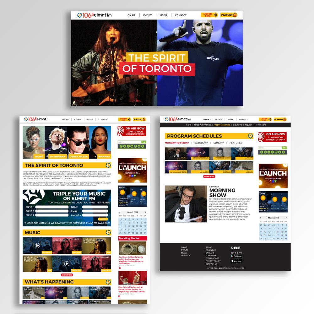 ELMNT FM Website